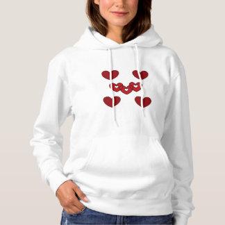 #plussize l'amour vous sweat - shirt à capuche