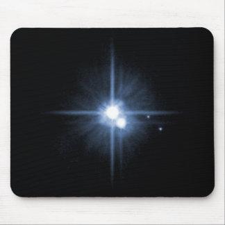 Pluton et ses lunes Charon, Nix, et hydre Unlab Tapis De Souris