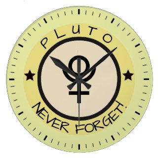 Pluton, n'oublient jamais grande horloge ronde