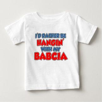 Plutôt coup avec Babcia T-shirt Pour Bébé