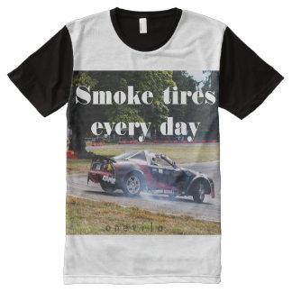 Pneus de fumée chaque jour Zombiata T-shirt Tout Imprimé