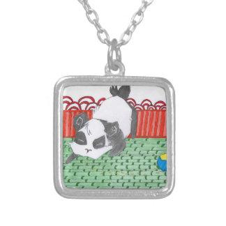 Pô , notre petit panda de Chine Pendentif Carré