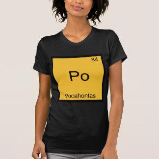 PO - Pièce en t drôle de symbole d'élément de T-shirts