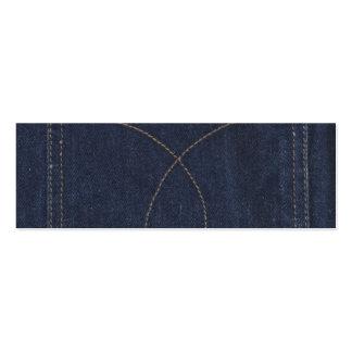 Poche bleu-foncé de denim carte de visite petit format