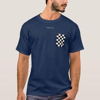 Poche Checkered de faux de drapeau T-shirt