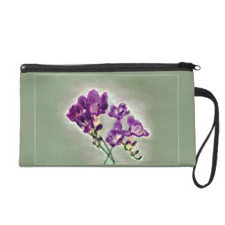 Pochette Avec Dragonne Bracelet violet de freesia