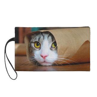 Pochette Avec Dragonne Chat de papier - chats drôles - meme de chat -