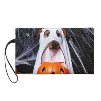 Pochette Avec Dragonne Chien de fantôme - chien drôle - poursuivez