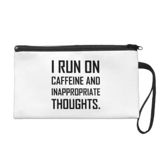 Pochette Avec Dragonne Courez les pensées inadéquates de caféine