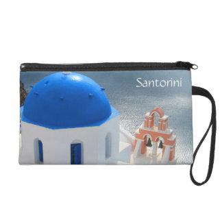 Pochette Avec Dragonne Église de Santorini pendant l'après-midi Sun