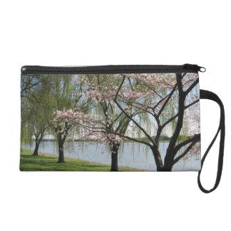 Pochette Avec Dragonne Fleurs de cerisier et saule