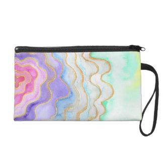 Pochette Avec Dragonne Geode pour aquarelle multicolore