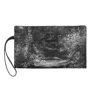 Black and white forest print women's mini-clutch
