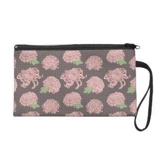Pochette Avec Dragonne Motif sans couture rose mou de Chrysantemum