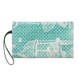 Pochette Avec Dragonne Paris--Oiseau Cage-Turquoise-Cosmetic_Travel_Bag