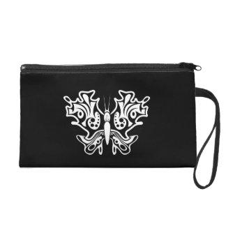 Pochette Avec Dragonne Tatouage de papillon noir et blanc