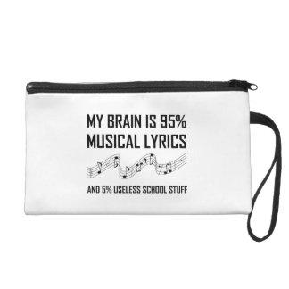 Pochette Avec Dragonne Textes musicaux de cerveau drôles