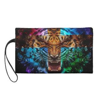 Pochette Avec Dragonne Tigre croisé - tigre fâché - visage de tigre - le