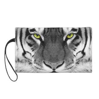Pochette Avec Dragonne Visage de tigre - tigre blanc - tigre de yeux -