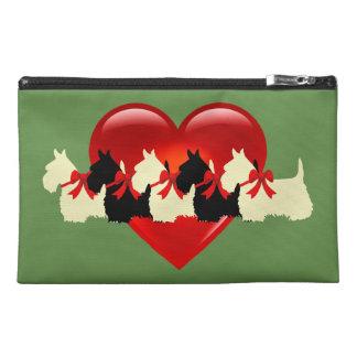 Pochette De Voyage Écossais vert rouge noir/blanc de Terrier de