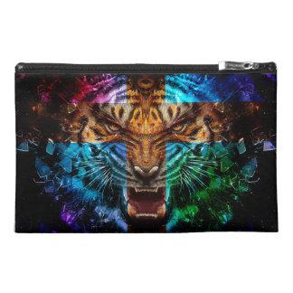 Pochette De Voyage Tigre croisé - tigre fâché - visage de tigre - le