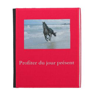 Pochette Folio IPad image cheval Coque iPad
