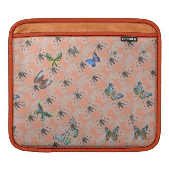 Pochette iPad design papillon