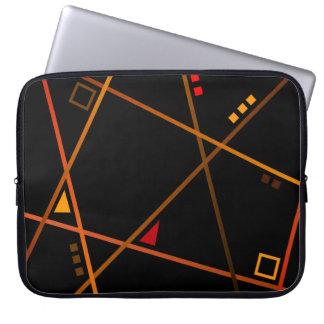 """Pochette ordinateur - Modèle """"Abstract geometry"""" Protection Pour Ordinateur Portable"""