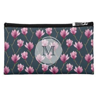 Pochette Simili Daim Motif floral d'aquarelle de magnolia