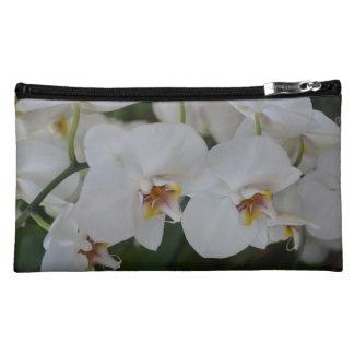 Pochette Simili Daim Orchidées