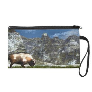 Pochettes Avec Dragonne Bison dans la montagne