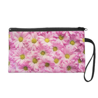 Pochettes Avec Dragonne Bracelet - Mini-Bourse - marguerites roses de
