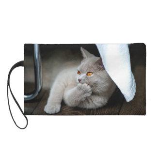 Pochettes Avec Dragonne Chat britannique - chat drôle - chat gris