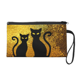 Pochettes Avec Dragonne Chatons de chaton de chat noir de Cateye de chats