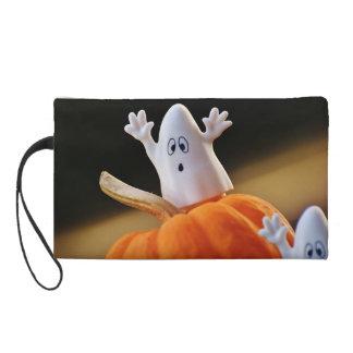 Pochettes Avec Dragonne Citrouille et fantôme - fantôme drôle - citrouille
