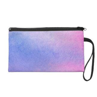 Pochettes Avec Dragonne Couleur pour aquarelle de marbre rose et bleue