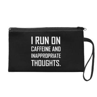 Pochettes Avec Dragonne Courez les pensées inadéquates de caféine
