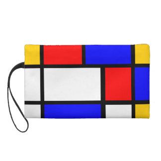 Pochettes Avec Dragonne Mondrian jaune rouge bleu