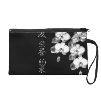 Pochettes Avec Dragonne Orchidées japonaises dans le noir