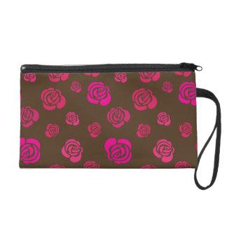 Pochettes Avec Dragonne Roses roses et magenta rouges sur le sable Brown