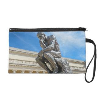Pochettes Avec Dragonne Statue de penseur de Rodin