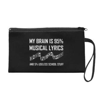 Pochettes Avec Dragonne Textes musicaux de cerveau drôles