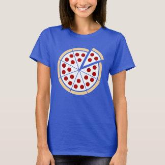 Pochoir bronzage et blanc de tarte de pizza - t-shirt