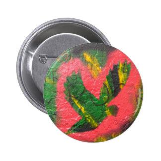 Pochoir de colombe de paix badge rond 5 cm