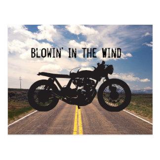 Pochoir de cool de cru de moto de coureur/gosse de cartes postales