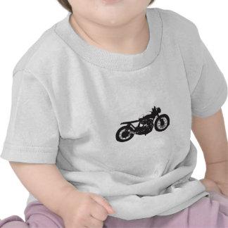 Pochoir de cool de cru de moto de coureur/gosse de t-shirts