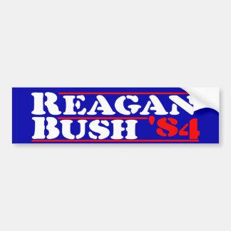 Pochoir de Reagan Bush '84 Autocollant De Voiture