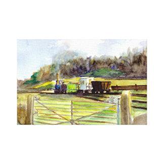 Pockerley Wagonway, copie Beamish de toile