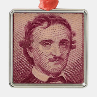 Poe Ornement Carré Argenté