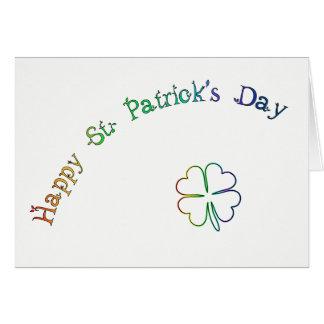 Poème-Arc-en-ciel irlandais de bénédiction du jour Cartes